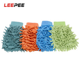 $enCountryForm.capitalKeyWord NZ - LEEPEE 1 piece Car Wash Glove Ultrafine Fiber Chenille Microfiber Home Cleaning Window Washing Tool Auto Care Tool Car Drying