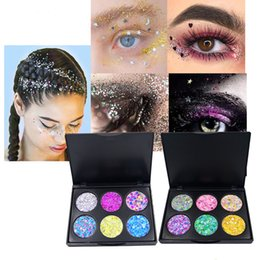 diamond water 2019 - New POPFEEL Glitter Eyeshadow Palette 6 Colors Popfeel Makeup Diamond Eye Shadow Powders Beauty Cosmetics Sets Shimmer E