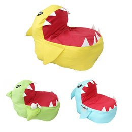 $enCountryForm.capitalKeyWord NZ - Shark Animal Cartoon Storage Bag Creative Modern Stuffed Storage Bean Bag Chair Portable Kids Clothes Toy Storage Bags LE352