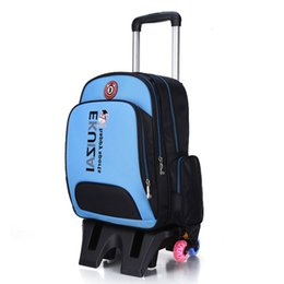 $enCountryForm.capitalKeyWord NZ - Kid School Bags Trolley Backpack Wheel Bag Korean SchoolBag Luggage For Children 6 Wheels Flexible School Backpack With Wheel