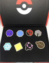 $enCountryForm.capitalKeyWord NZ - Action Children Gift Box Metal Anime Badge Brooch Mon Zinic Alloy Cartoon Brooch Action Figures Anime Toys 2.5-3.3cm 8pcs set