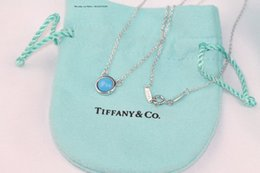 Sapphire Pendants Australia - 925 Silver Pendants Necklace For Women Blue Sapphire Leaf Gemstone Wedding Jewelry With Chain Shipping