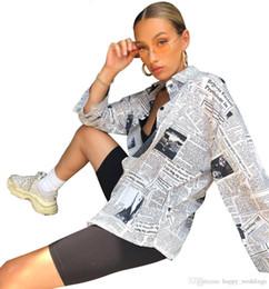$enCountryForm.capitalKeyWord Australia - Nice New Women Blouses Shirts Long Sleeve Printed Letter Newspaper Sexy Shirts Blouses Streetwear