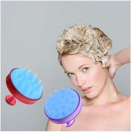 $enCountryForm.capitalKeyWord Australia - 1pc Silicone Head Shampoo Scalp Massage Brush Hair Washing Scalp Cleanse Comb Deep Care Massage Scalp 16 styles