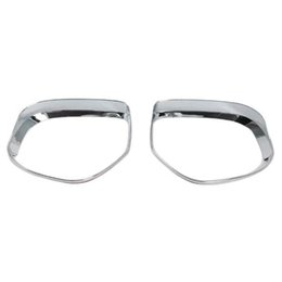 sun visors glasses NZ - Rearview Side Mirror Glass Rain Shield Sun Visor Shade Frame 2Pcs Set for Mitsubishi Outlander car