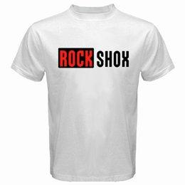 $enCountryForm.capitalKeyWord NZ - New ROCK SHOX Logo Mountain MTB Bike Bicycle Men's White T-Shirt Size S to 3XL High Quality Custom Printed Tops Hipster Tees T-Shirt