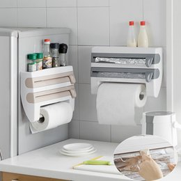 $enCountryForm.capitalKeyWord Australia - 1 PCS Kitchen packaging cutting wall hanging paper towel holder plastic refrigerator plastic wrap storage rack