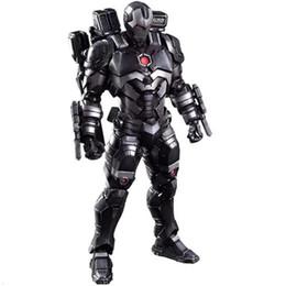 Marvel Iron Man Figure Australia - Marvel Comics Play Arts Kai Marvel 25cm War Machine Iron Man Super Hero Ironman Pvc Action Figures Toys Anime Figure Toys Gifts