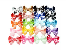 colorful bows NZ - Colorful Grosgrain Ribbon Wave Bows With Clip Boutique Bows Hairpins For Baby Girls Children Hair Clips Accessories Hairpins 613