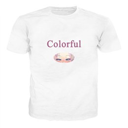 $enCountryForm.capitalKeyWord Australia - Ahegao Print T Shirt Men Women Harajuku Face Red Woman T Shirts Funny Shy Girl Sexy Tops Summer Cute Clothing Dropship