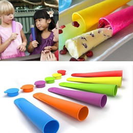 push up ice mold Australia - Silicone Ice Pop Maker Push Up Ice Cream Jelly Lolly Pop For Popsicle Silicone ice pop mold Mould Kitchen Bar Tools AN2214