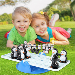 educational games for babies NZ - Penguin Balance Board Stacking Games Baby Kids Educational Toys For Children Parent-child Interaction Desktop Game