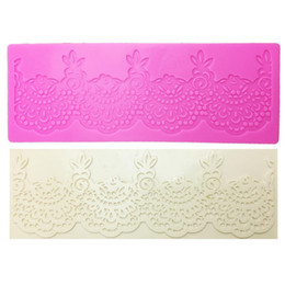 Silicone lace for cake online shopping - M0358 Flower lace mat DIY Silicone Mold For Cake Decorating tools baking bakeware mould silicone mat fondant