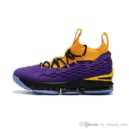 7370d610644 Womens Basketball Shoes Sale UK - Womens lebron 15 basketball shoes for sale  Black Gold Yellow