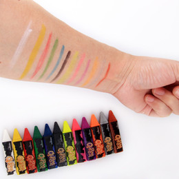 $enCountryForm.capitalKeyWord Australia - Painted Crayons Facial Body Bright Makeup Pencil Stitching Structure Crayons Christmas Halloween Body Painting Pen Children Makeup BH1709 CY