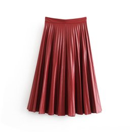 zipper buds Canada - Bonjean Women Chic Jeans Solid Midi Skirt Bow Tie Belt Side Zipper Bud Female Skirts Women's Clothing Basic Casual Fashion Skirts Mujer