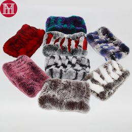 Knitted Rex Rabbit Fur Scarf Australia - 2018 Women Real Rex Rabbit Fur Scarf Rex Rabbit Fur Headbands Knitted Natural Rabbit Fur Ring Scarves Factory Wholesale Retail
