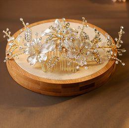 $enCountryForm.capitalKeyWord UK - Luxury Rhinestone Flower Headpiece Wedding Hair Accessories Special Occasion Headbands Bridal Hair Combs Tiara Bridal Crown Headband