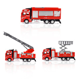 die cast models Canada - Alloy Fire Fighting Truck Car Toys for Children Teens Die-cast Vehicle Pull Back Model Cars Birthday Gifts Home Decoration
