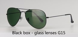 square frame clear lens glasses Australia - Wholesale-Metal Frame glass Lens Brand Designer Pilot Sunglasses Men Women Driving glasses UV400 Goggle with free cases and label