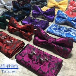 Male Fashion Suits Australia - Bow tie male new paisley cashew flower bow British wind 3 piece suit bow tie factory spot wholesale