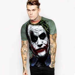full sleeve tees men Australia - Halloween Joker 3d T Shirt Unisex Casual Funny Anmie Character Joker Poker 3d T-Shirt Man Summer Style Full Printing Tops Tees Trend M-2XL