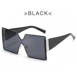 goggle type sunglasses 2021 - Wholesale Of New Type Large Metal Frame Conjoined Sunglasses Women's Square Frame Tinted Sunglasses Cross Border Sales Of Goggles
