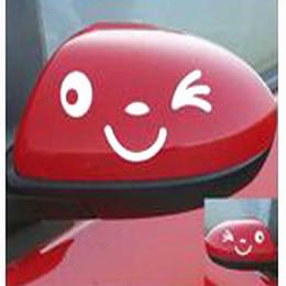 $enCountryForm.capitalKeyWord Australia - CAR 2PCS Cute Rearview Mirror Car Stickers Reflective Smiling Face Sticker Decal