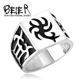 $enCountryForm.capitalKeyWord NZ - BEIER High quality Retro Jewelry Wholesale New Titanium Steel Ring Men's Overbearing Personality Flame Creative Ring 168