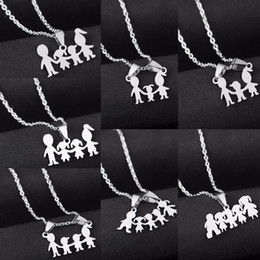 $enCountryForm.capitalKeyWord Australia - Family Love Mom Dad Son Daughter Necklaces Gifts Stainless Steel Pendants Boys Girls Mothers Fathers Necklace For Children Kids T190626