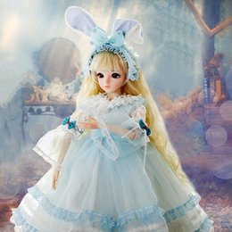 Christmas Gift Shoes Australia - bjd 1 3 Dolls for Girl Silicone With Clothes Wigs Shoes Makeup Christmas Gift Beauty Toys Fantasy Reborn Doll 60cm Rolla