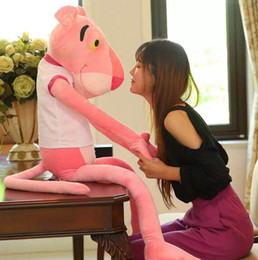$enCountryForm.capitalKeyWord Australia - Pink Panther Toys Plush Toys Super Big Bed Dolls Girls Day Gifts Cute Pink Naughty Panther