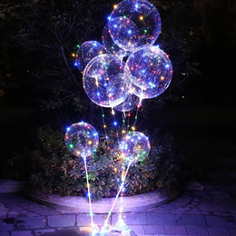 24 inch balloons online shopping - 5 set inch Clear Bubble Balloon Luminous LED Lights String Up Balloons Wedding Party Happy Birthday Supplies SH190913