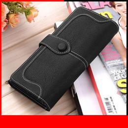 Stitch Wallet Australia - Women Wallets Vintage Matte Leather Lady Coin Purse Handbags Moneybags Brand Stitching Wallet Burse Wristlet Carteira Feminina