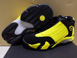 Wholesale 2019 New big kid Jumpman Men s Bumblebee Basketball Shoes Men Yellow Black Sneaker Basketball Shoes Retro On Sale Sports Sneakers shoe