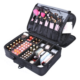 Large Cosmetic Bags Cases UK - 2019 Professional Bag Women Cosmetic Bags&case High Quality Oxford Female Korean Makeup Box Large Capacity Wash Bags J190612