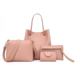 Packaging Ladies Handbag Australia - Woman Bag 4Pcs Pattern Leather Handbag+Crossbody purse+Messenger+Card Package ladies hand bags torebka damska shopper