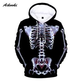 $enCountryForm.capitalKeyWord Australia - Aikooki 3D X-ray Perspective Hoodies Men Women Graphic Skeleton Skull 3D Print Hoodie Halloween Men's Hoodies and Sweatshirts