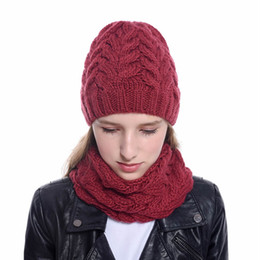 White hats for girls online shopping - YEABIU Women And Men Hat Scarf Suit Beanie Winter Hat For Women Winter Warm Female Cap Scarf Set Knitted Girls Cap