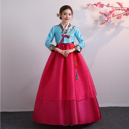 wedding dresses for dancing NZ - Asian National Dance Costume Hanbok Dress Traditional Wedding Korean Hanbok for Women Stage wear Cosplay Performance Clothing