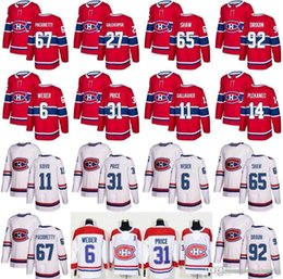 db2e3ef1c Men s Montreal Canadiens 6 Shea Weber 31 Carey Price Hockey Jersey 2017-  2018 New 92 Jonathan Drouin 67 Max Pacioretty 27 Galchenyuk Je