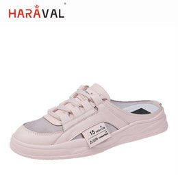 $enCountryForm.capitalKeyWord Australia - HARAVAL 2019 summer new ladies casual shoes slingbacks a pedal lazy slippers daily sweet versatile flat slippers women shoes