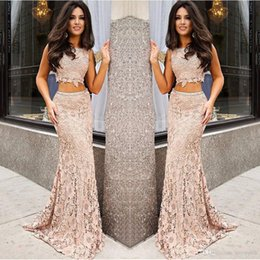 $enCountryForm.capitalKeyWord Australia - New Fashion Trend 2 Pieces Lace Nude Prom Dress Appliques Prom Gown Long Formal Gowns Beaded Dresses Vestidos De Formatura