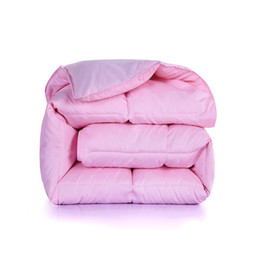 $enCountryForm.capitalKeyWord Australia - Sinonics White Goose Down Duvet Winter Comforter Blanket King Queen Double Twin Size Cotton Down Quilt Pink Bedding Filler