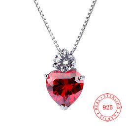 $enCountryForm.capitalKeyWord Australia - genuine 925 sterling silver red heart pendant red zircon stone jewellery stamped s925 China factory wholesale