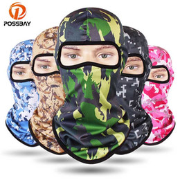white winter face mask Australia - POSSBAY Windproof Winter Motorcycle Face Mask Outdoor Man Woman Face Neck Guard Masks Cycling Ski Winter Moto Balaclavas