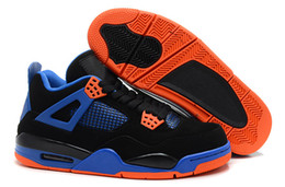 good cheap running shoes Canada - Come With Box 4 Black Safety Orange Game Royal Man Designer Basketball Shoes Cheap Classic IV Cavs Fashion Trainers Good Quality Size40-46