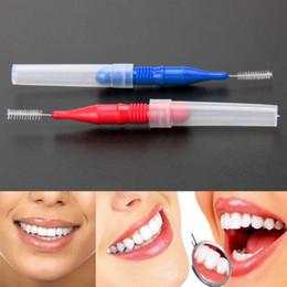 $enCountryForm.capitalKeyWord NZ - 50PCS Tooth Flossing Head Soft Plastic Interdental Brush Oral Hygiene Dental Toothpick Tooth Pick Brush Teeth Cleaning Tool C18112601