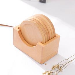 $enCountryForm.capitalKeyWord Australia - 6pcs set Anti Slip Coffee Tool Wooden Kitchen Table Decoration Office Round Gift Mat Home Heat Insulation Cup Pad