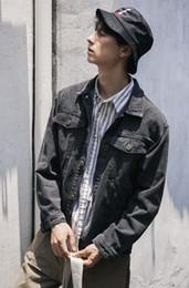 $enCountryForm.capitalKeyWord NZ - Japanese men's wear 2018 autumn new style Lapel cotton jeans jacket, men's coat black blouse